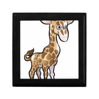 Giraffe Safari Animals Cartoon Character Small Square Gift Box