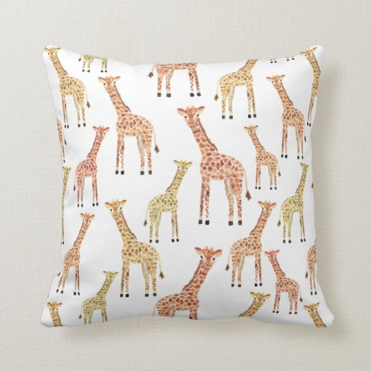 Giraffe Safari Print Cushion