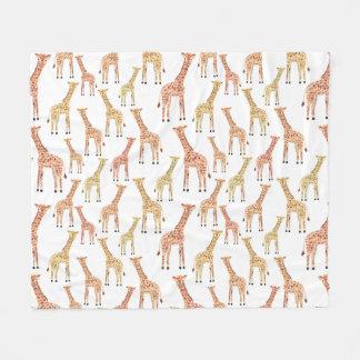Giraffe Safari Print Fleece Blanket