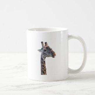 Giraffe Says Hello Tom Wurl Basic White Mug