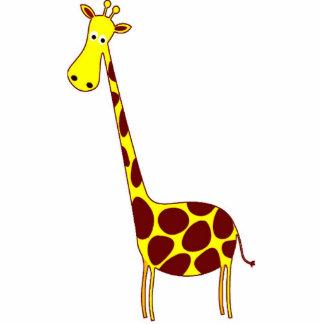 Giraffe Sculptures, Pins, Key Chains, or Magnets Standing Photo Sculpture