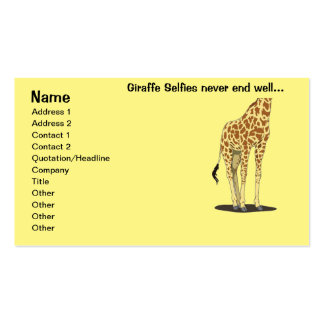 Giraffe Selfies Double-Sided Standard Business Cards (Pack Of 100)