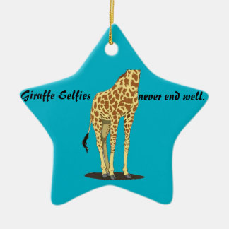 Giraffe Selfies Christmas Ornament