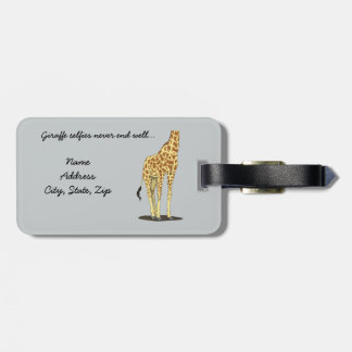 Giraffe selfies never end well... luggage tag