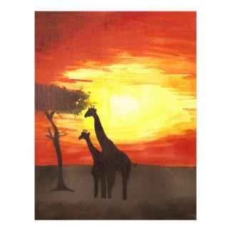 Giraffe Silhouette Flyer