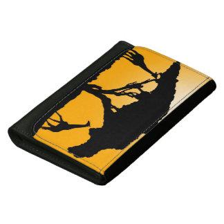 Giraffe Silhouette Leather Wallet