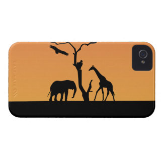 Giraffe silhouette sunset iphone 4 case mate