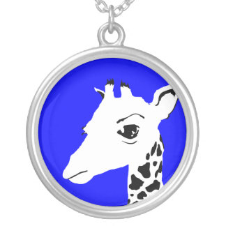 giraffe silver plated necklace