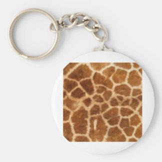 Giraffe skin keychain