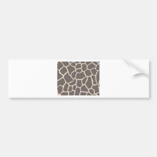 Giraffe Skin Pattern Bumper Sticker