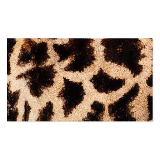Giraffe Skin Pattern Business Card Templates