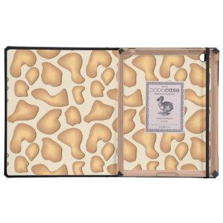 Giraffe Skin Pattern iPad Folio Cover