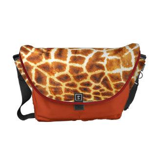 Giraffe skin pattern messenger bag