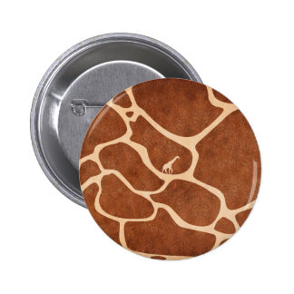 Giraffe Skin Pattern Surface Stains Lines 6 Cm Round Badge