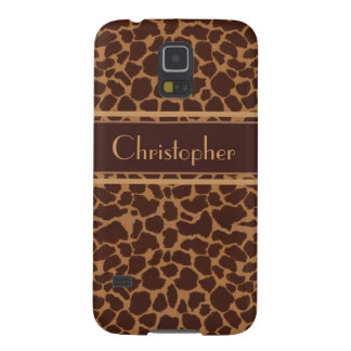 Giraffe Skin Print Pattern Case For Galaxy S5