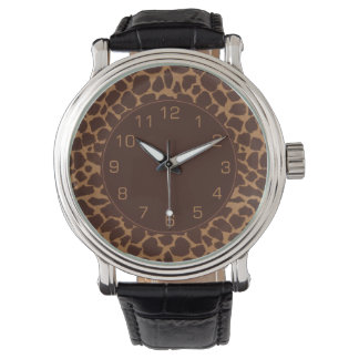 Giraffe Skin Print Pattern Watch