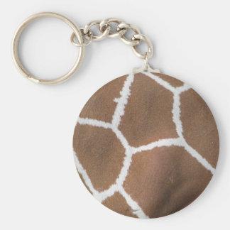 Giraffe skin structure keychains
