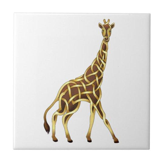 Giraffe Small Square Tile