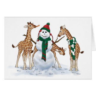 Giraffe Snow Day Card