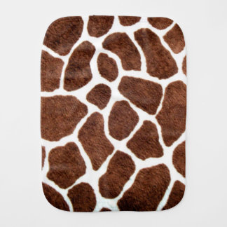 Giraffe spots burp cloth