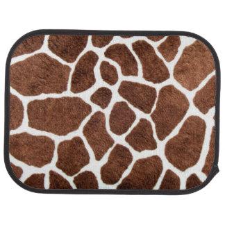 Giraffe spots car mat