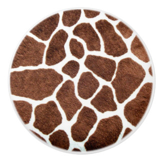Giraffe spots ceramic knob