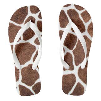 Giraffe spots flip flops