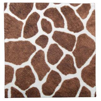 Giraffe spots napkin