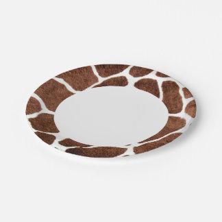 Giraffe spots paper plate