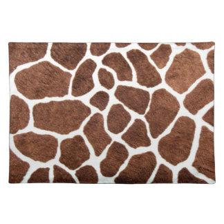Giraffe spots place mats