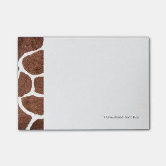 Giraffe spots post-it notes