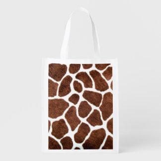 Giraffe spots reusable grocery bag
