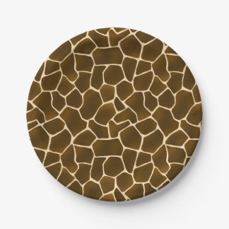 Giraffe Spots Wild Safari Animal Print 7 Inch Paper Plate
