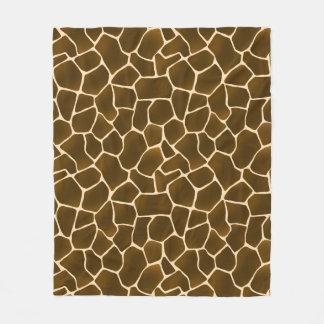 Giraffe Spots Wild Safari Style Animal Skin Fleece Blanket