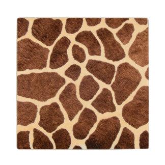 Giraffe spots wood coaster