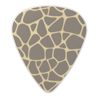 Giraffe Spotted Background Acetal Guitar Pick