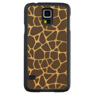 Giraffe Spotted Background Carved Maple Galaxy S5 Case