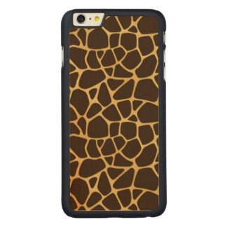 Giraffe Spotted Background Carved Maple iPhone 6 Plus Case