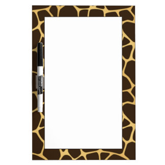 Giraffe Spotted Background Dry Erase Board