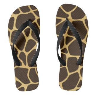 Giraffe Spotted Background Flip Flops
