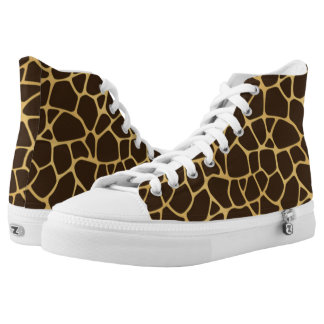 Giraffe Spotted Background High Tops