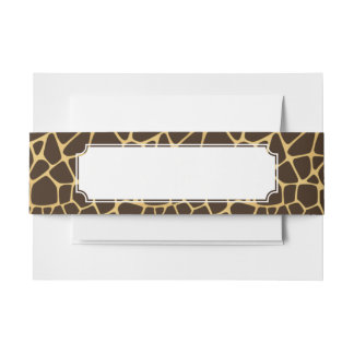 Giraffe Spotted Background Invitation Belly Band
