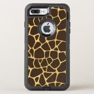 Giraffe Spotted Background OtterBox Defender iPhone 8 Plus/7 Plus Case