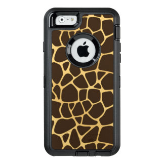 Giraffe Spotted Background OtterBox Defender iPhone Case