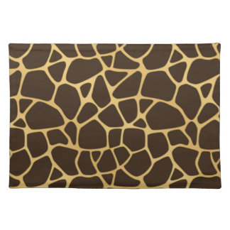 Giraffe Spotted Background Placemats
