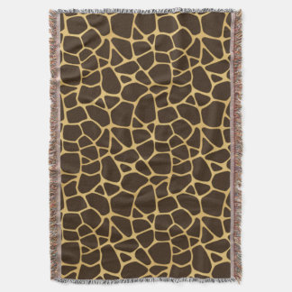 Giraffe Spotted Background Throw Blanket