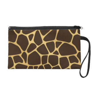 Giraffe Spotted Background Wristlet Purse