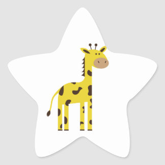 Giraffe Star Sticker