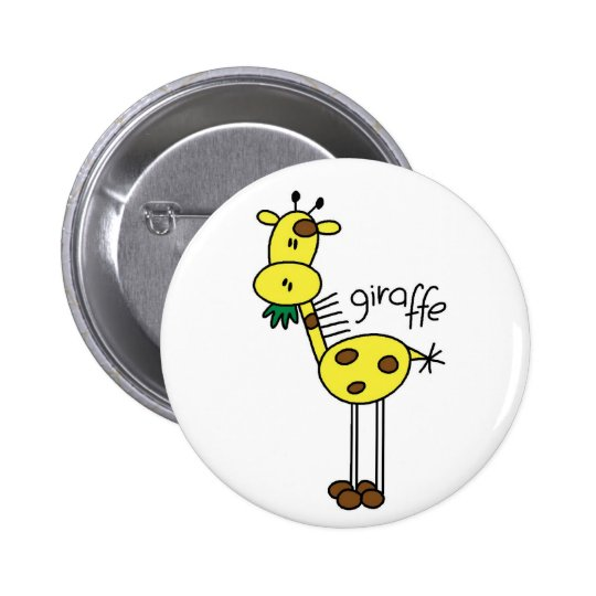 Giraffe Stick Figure Button