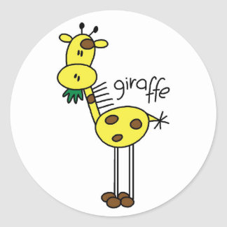 Giraffe Stick Figure Stickers Sticker